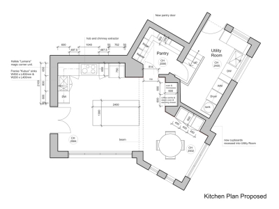 Kitchen drawings kent griffiths design for Kitchen set drawing